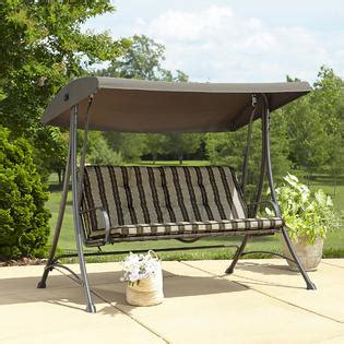 swing chair kmart garden oasis 3 seat swing with canopy