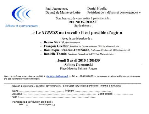 Exemple De Lettre Visite D Entreprise Modele Lettre Invitation Reunion Publique Document
