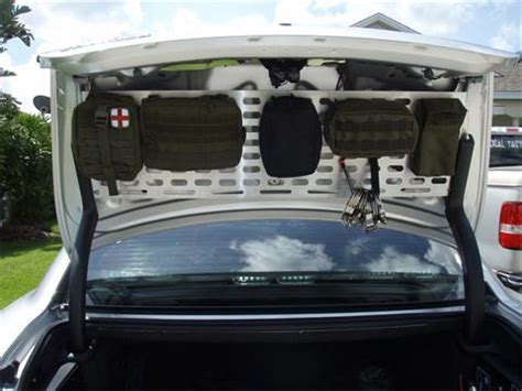 homemade tactical vehicles molle trunk system without the trunk liner bugging