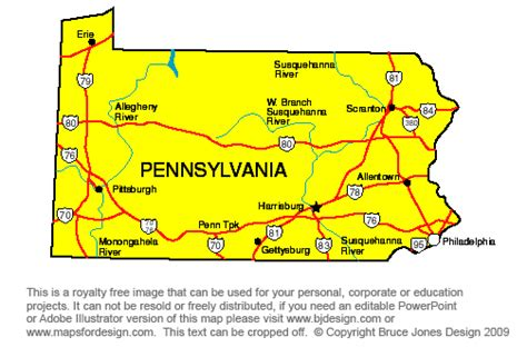 us map states pennsylvania pa state capital map