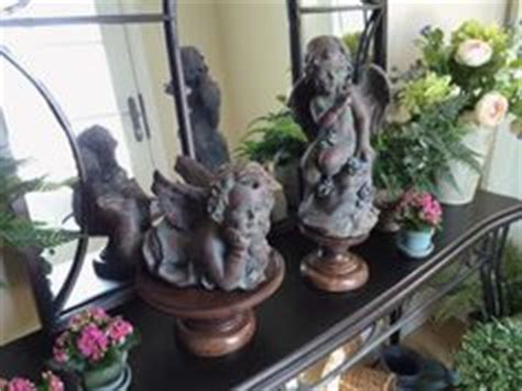 qvc home decor set of 2 garden cherubs by valerie qvc valerie parr hill qvc home decor