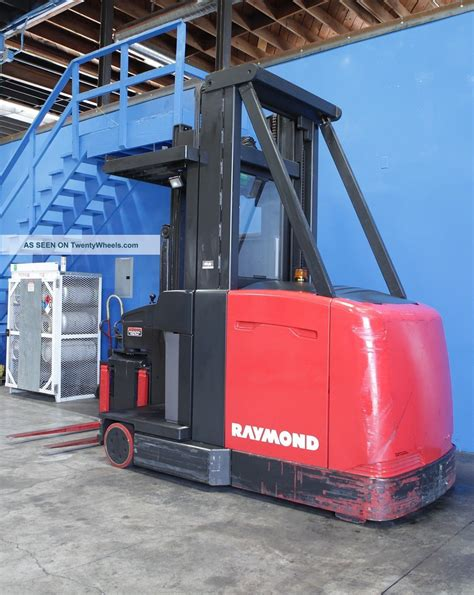 swing reach forklift 3000 lbs raymond model sa csr30t electric swing reach