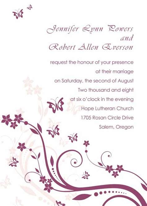 butterfly wedding invitations templates 17 best images about wedding program on