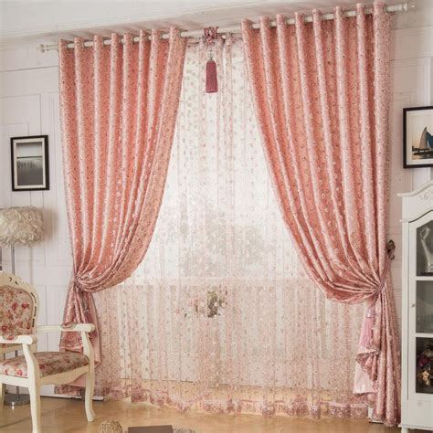 beautiful curtains for bedroom pink waverly jacquard polyester beautiful curtains for bedroom