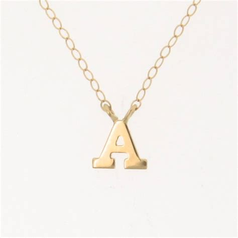 Letter Necklace New Tiny Initial Necklace Your Letter Personalized Necklace 14k From Theresaminkdesigns On