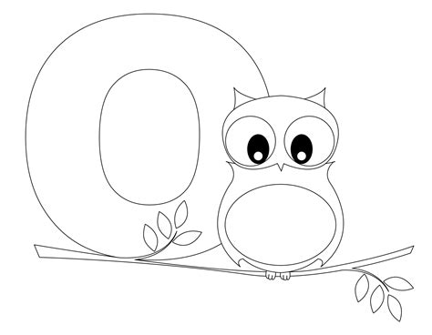 coloring pages for the letter o free printable alphabet coloring pages for kids best