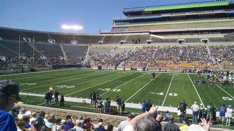 section 16 sec notre dame stadium section 10 rateyourseats com