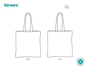 Line Pattern Bag design template reusable tote bag fairware