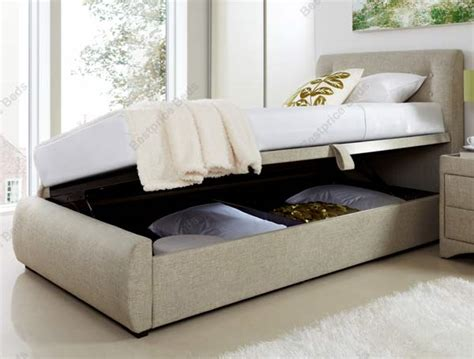 ottoman side opening beds the product kaydian buttons side opening fabric ottoman is