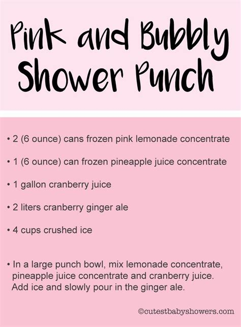 printable recipes for baby food 25 best ideas about baby shower punch on pinterest baby