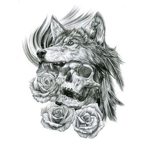 wolf headdress drawing