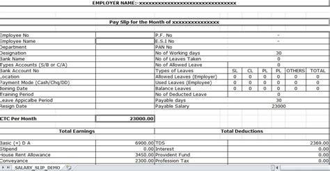 Lorry Driver Cv Exle Uk by Sle Of Salary Slip Excel Template Excel Templates