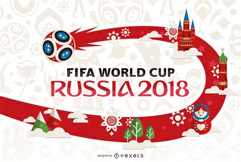 d world cup 2018 russia 2018 world cup poster design vector