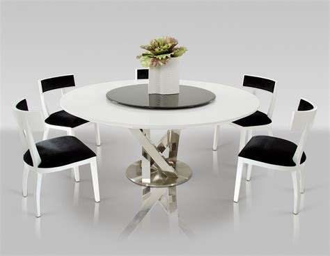 modern dining room sets for 8 modern round dining room table with 8 black and white