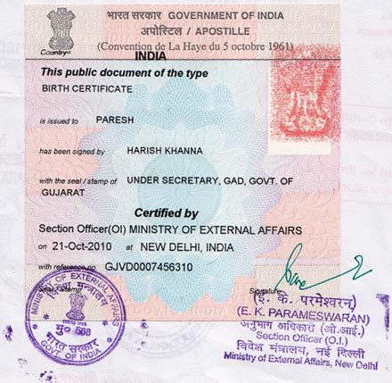 Indian Birth Records Birth Certificate Attestation Delhi Education
