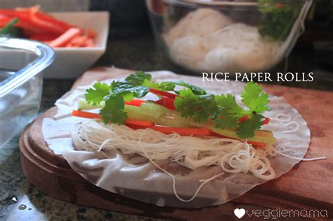 How To Make Rice Paper Wraps - easy rice paper rolls veggie