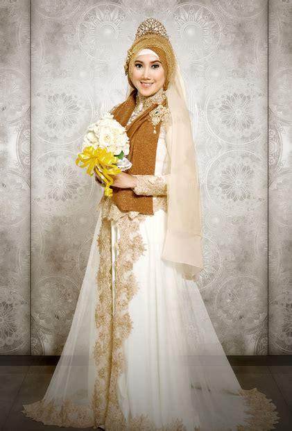 Gaun Pengantin Putih Krem gaun pengantin muslimah kebaya modern 2017