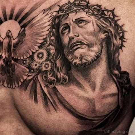 jesus tattoo on chest 70 mind blowing jesus tattoos for chest