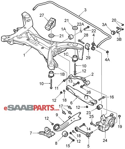 saab parts diagrams saab 9 3 rear suspension diagram wiring diagram schemes