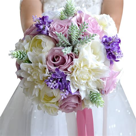 Where To Buy Bridal Bouquets by Aliexpress Buy Wedding Flowers Bridal Bouquet Bridal