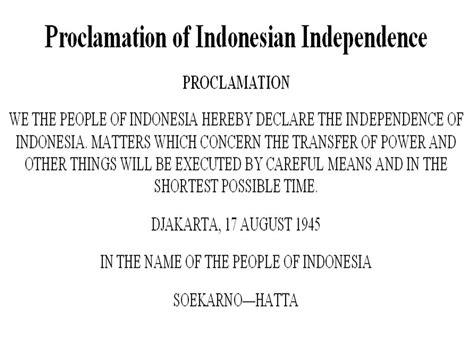 inilah teks proklamasi kemerdekaan indonesia  bahasa inggris  artinya bahasa bahasa