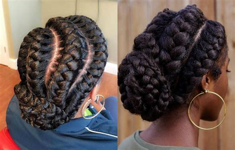 Big Braid Hairstyles by Stunning Goddess Braids Hairstyles For Black