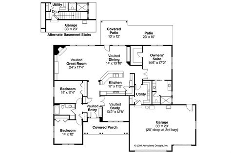 737 Floor Plan by Ranch House Plans Wallowa 30 737 Associated Designs