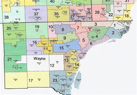 map of wayne county michigan the western right michigan redistricting official