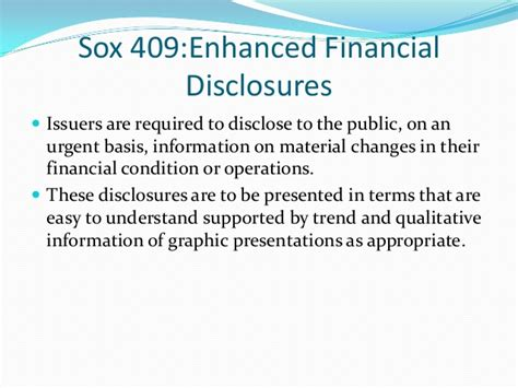 sox section 409 sarbanes oxley act 2002