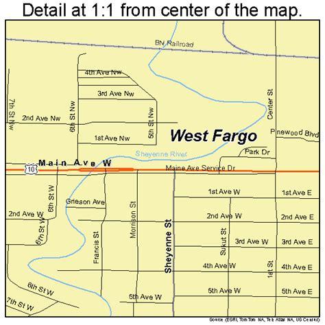 map of fargo nd west fargo dakota map 3884780