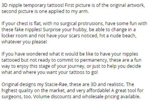 temporary nipple tattoos temporary tattoos style 2a package of 12