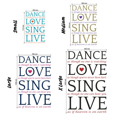 a lover sings selected 0571328598 dance love sing live 2 wall stickers decals