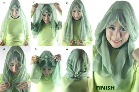 tutorial jilbab segi empat jaman now contoh tutorial cara pakai kerudung segi panjang