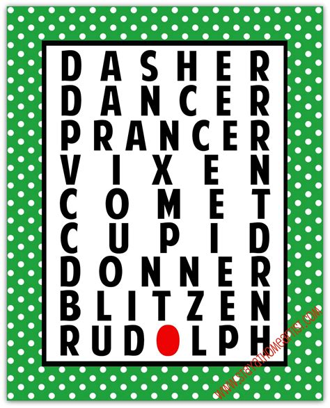 free printable reindeer names search results for 9 reindeer names calendar 2015