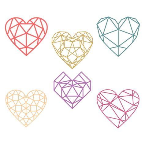 heart pattern programs in c geometric heart cuttable design cut file vector clipart