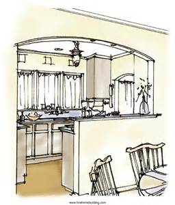 Arch Between Kitchen And Living Room by Arch Between Kitchen And Living Room Kitchens