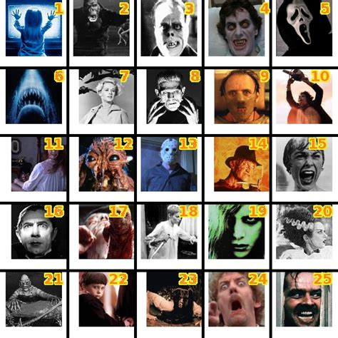 horror film quiz horror movie by picture quiz by kagomeshuko