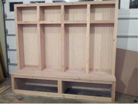 how to build a mud room bench mudroom locker boot bench woodworking talk woodworkers