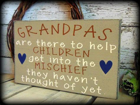 funny gift for grandpa handmade wooden sign rustic wood