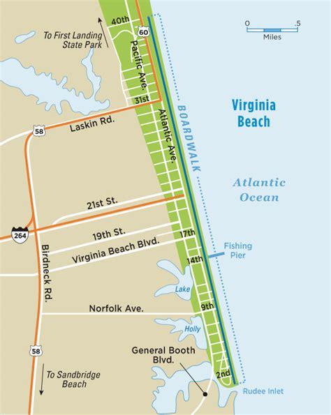 Map Of Virginia Beach Va virginia beach boardwalk map virginia beach vacation guide