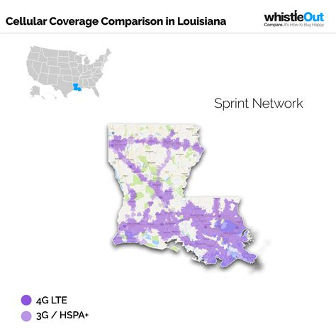 sprint usa coverage map best cell phone coverage in louisiana whistleout