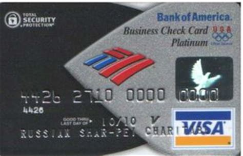 Bank Of America Visa Gift Card - bank card bank of america platinum bank of america united states of america col us