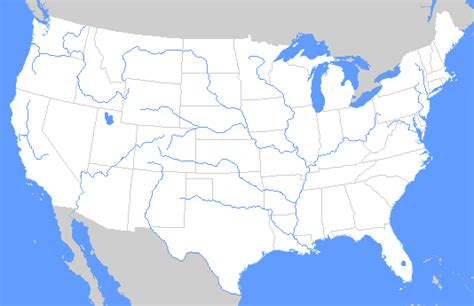 united states map showing major rivers map of united states with rivers and lakes labeled