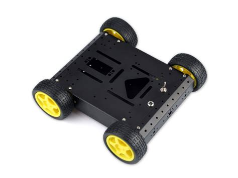 robotics chassis wd robotic aluminum mobile car chassis black