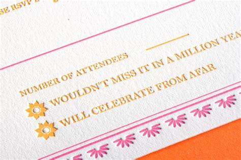 Letterpress Invitations by Indian Pattern Letterpress Wedding Invitations