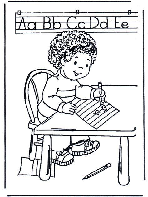 dibujos para colorear colorear y aprender schrijven kleurplaten school