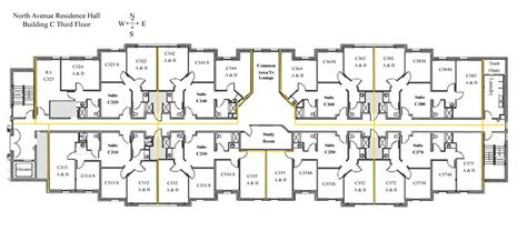 dormitory floor plans north avenue hall colorado mesa university