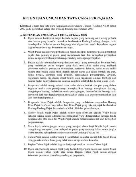 Undang Undang Perpajakan 1 akuntansi lanjut b perpajakan lab sun