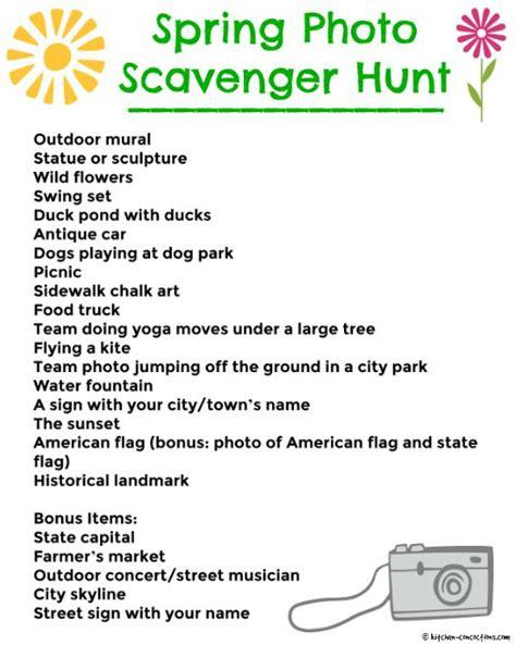 photo scavenger hunt list photo scavenger hunt kitchen concoctions