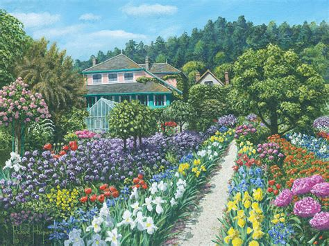 Monet Gardens by Monet S Garden Giverny Painting By Richard Harpum